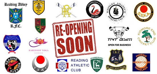 Logos of sports clubs in Reading