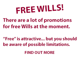 Free Wills may seem attractive but there are limitations you should be aware of