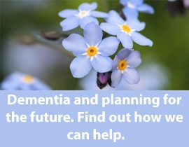 Dementia - find out how we can help.